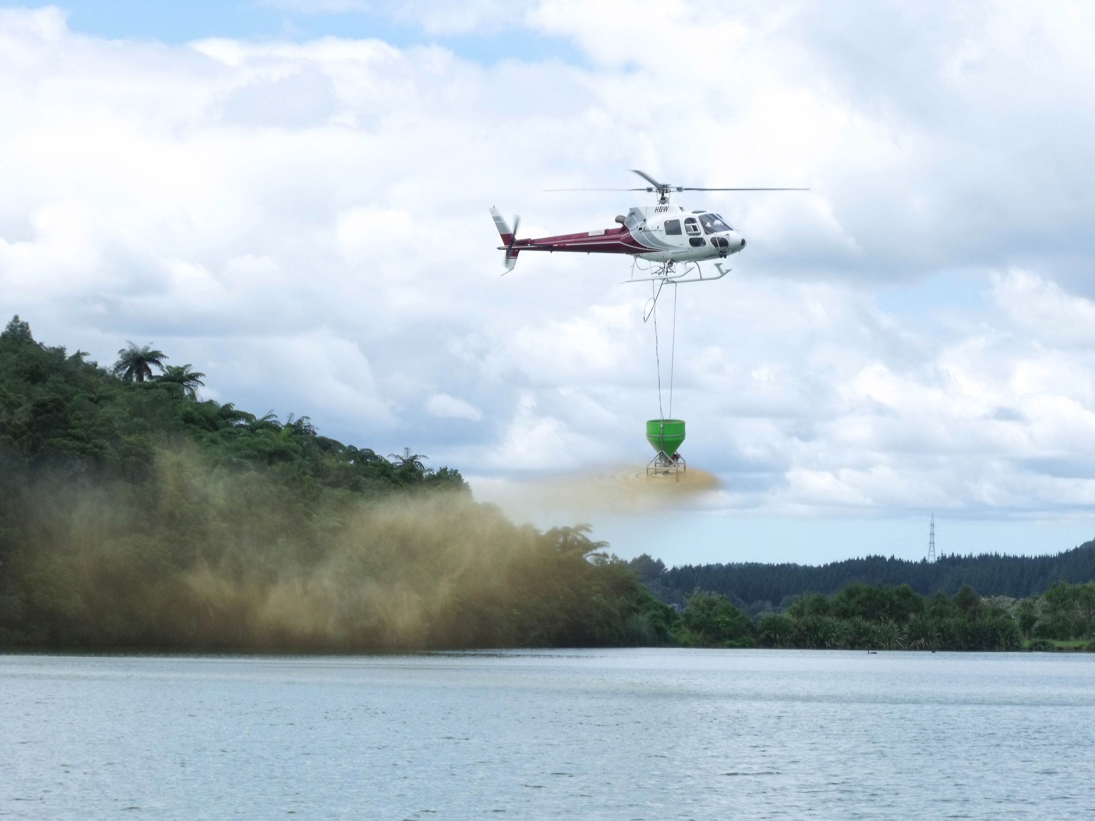 Application of Aqual P by Helicopter